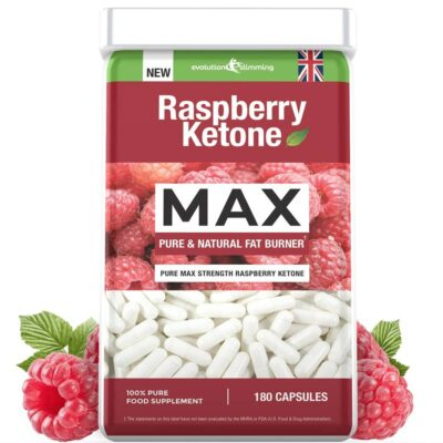 RASPBERRY KETONE MAX 100mg. PURE AND NATURAL (180 caps.)