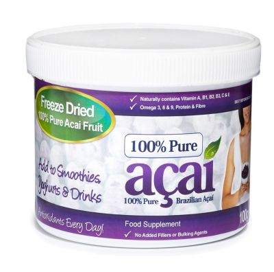 100% PURE ACAI BERRY POWDER TUBE 100gr.